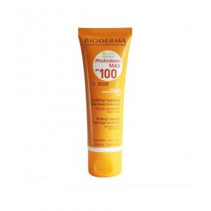 ضد آفتاب فتودرم مکس ۱۰۰ رنگی بژ روشن بایودرما