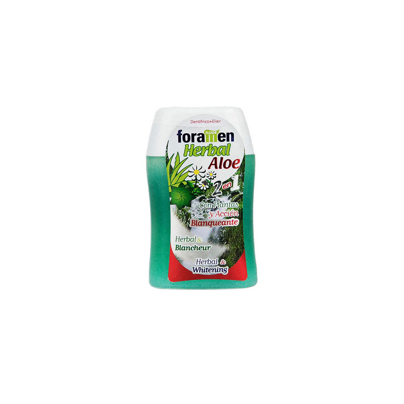 خمیردندان دهانشویه گیاهی ۲ در ۱ آلوئه ورا فورامن
