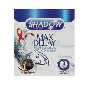 کاندوم شادو مدل تاخیری مضاعف (max delay) سه عددی