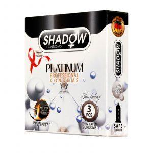 کاندوم شادو مدل پلاتینیوم (platinum) سه عددی