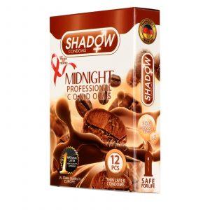 کاندوم شادو مدل میدنایت (midnight) سه عددی