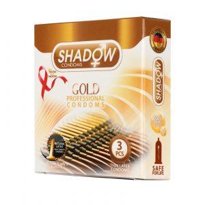 کاندوم شادو مدل طلایی (Gold) بسته ۳عددی