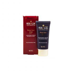 ضد آفتاب رنگی مناسب پوست های خشک و حساس رزالیا