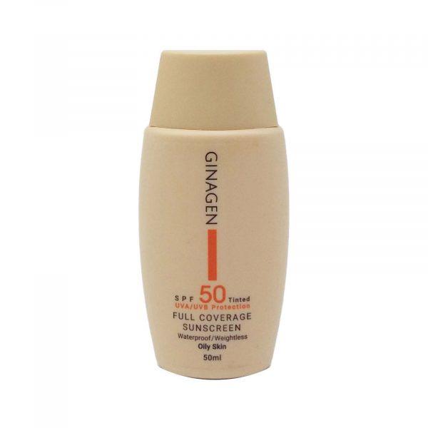 کرم ضد آفتاب رنگی پوست چرب ژیناژن