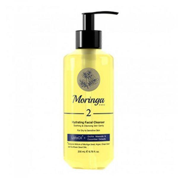 ژل شست و شوی صورت مورینگا امو مناسب پوست خشک و حساس 200میل کد 2