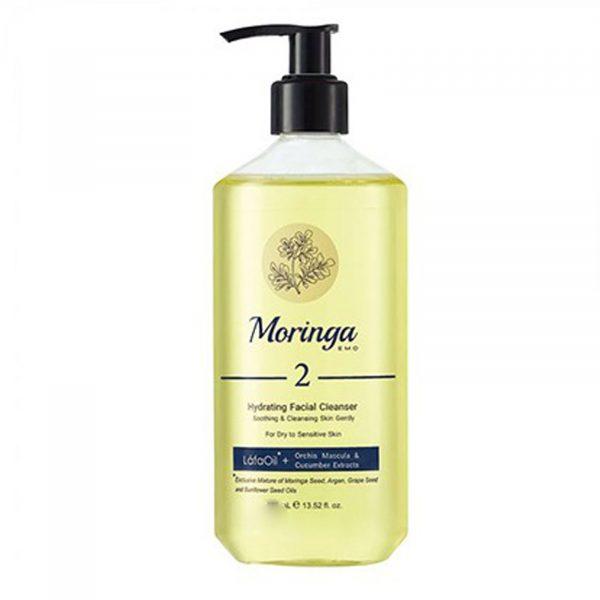 ژل شست و شوی صورت مورینگا امو مناسب پوست خشک و حساس 400میل کد 2